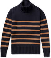Universal Works - Striped Wool-Blend Rollneck Sweater