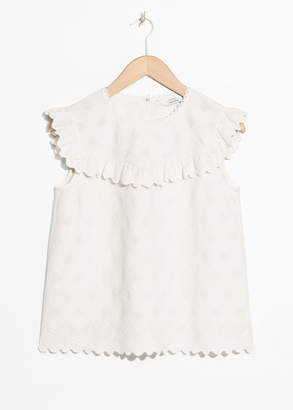 And other stories Frilled Sleeveless Top