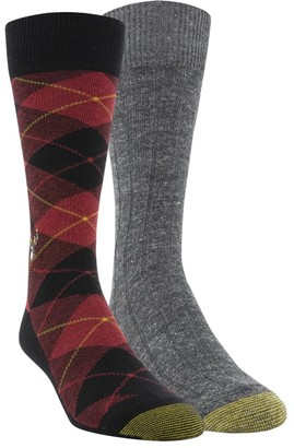 Gold Toe Deer & Plaid Dress Socks 2-Pack