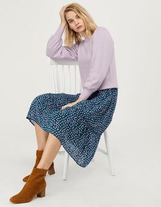 Under Armour Soft Blouson Sleeve Jumper in Wool Blend Purple