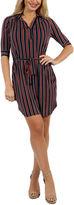 24/7 Comfort Apparel Paris Stripe Shirt Dress