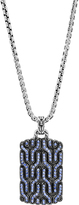 John Hardy Classic Chain Dog Tag Necklace with Blue Sapphire