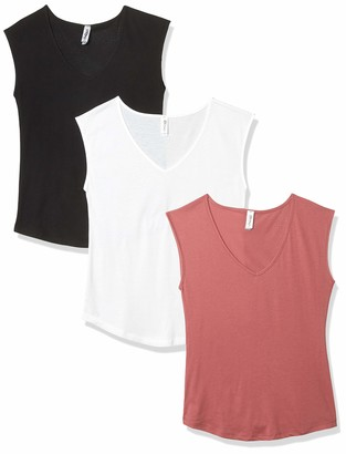 Marky G Apparel Women's Festival Sleeveless V-Neck T-Shirt (Pack of 3)