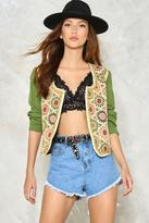 Nasty Gal Beading is Believing Embroidered Jacket