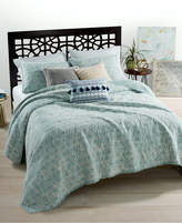 Martha Stewart Collection CLOSEOUT! Whim by Martha Stewart Collection Beach Washed Reversible Boardwalk Blue Full/Queen Quilt, Created for Macy's