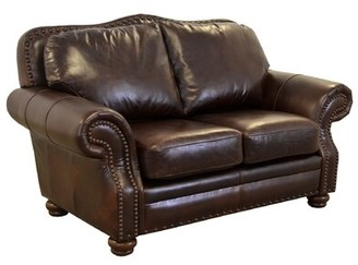 Brompton Westland And Birch Parker Leather Loveseat Westland and Birch Upholstery Color Brown