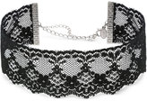 2028 Silver-Tone Black Lace Choker Necklace, a Macy's Exclusive Style