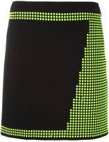 Christopher Kane mini studded skirt - women - Silk/Acetate/Brass/Virgin Wool - 40