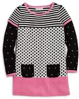 Design History Girls' Mixed Print Sweater Dress - Little Kid