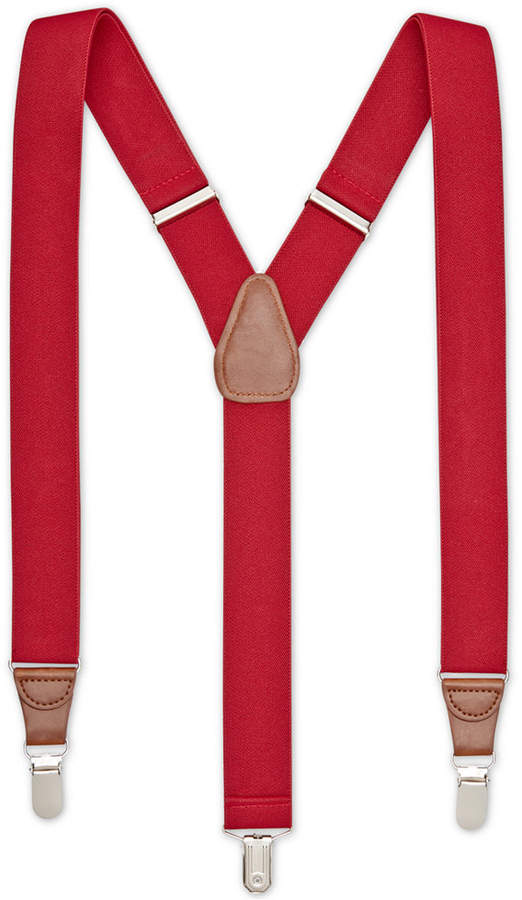 Club Room Men's Solid Stretch Suspenders, Created for Macy's