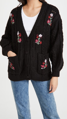 For Love & Lemons Amaryllis Button Down Cardigan