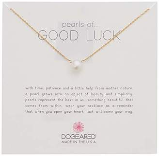 Dogeared Pearls of Good Luck Large Button Necklace