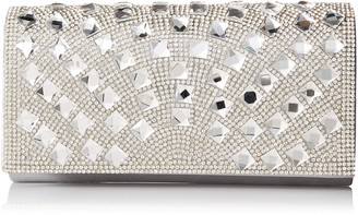 Jessica McClintock Chloe Studded Flap Clutch Evening Bag