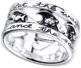 """Unwritten Let the Waves Hit Your Feet"""" Ring in Sterling Silver"""