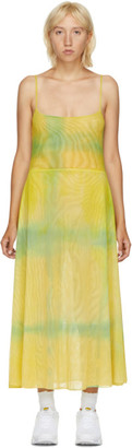 Collina Strada SSENSE Exclusive Green Hand-Dyed Market Dress