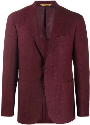 Canali Textured Single-Breasted Blazer