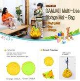 DAMJA Toy Mat Storage Bag (ORANGE DAMJA) 41 inch Playmat by DAMJA