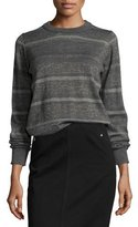 MiH Jeans Falls Metallic Striped Sweater, Charcoal/Gold