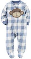 Carter's Baby Boy Animal Applique Fleece Sleep & Play
