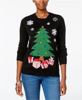 Karen Scott Petite Christmas Tree Sweater, Only at Macy's
