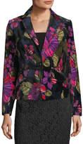 Trina Turk Sonorous Floral-Print Velveteen Blazer