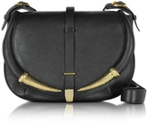 Roberto Cavalli Black Kripton Leather Shoulder Bag