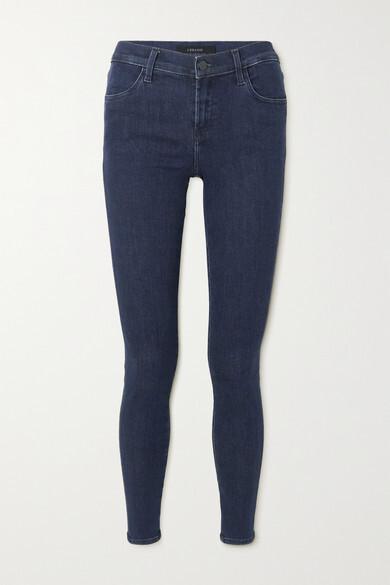Thumbnail for your product : J Brand Sophia Mid-rise Skinny Stretch-denim Jeans - Dark denim