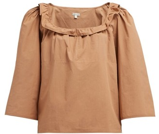 Belize - Mallory Ruffle-trimmed Cotton Top - Brown