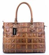 Tibes Leather Handbag Purse Top Handle Handbag Tote Bag For Women