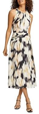 Reiss Gisele Printed Midi Dress