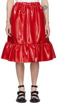 Comme des Garcons Red Patent Faux-Leather Skirt