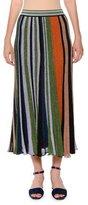 Missoni Lamé Striped Pleated Pull-On Long Skirt