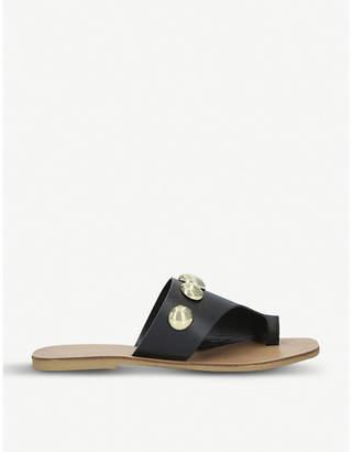 Kurt Geiger London Deena dome stud-embellished leather sandals