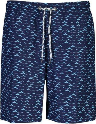 Snapper Rock Blue Swell Swim Trunks