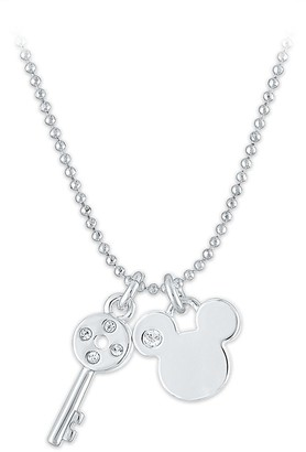 Disney Mickey Mouse and Key Pendant Necklace