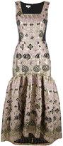 Temperley London 'Tower' long jacquard dress - women - Silk/Nylon/Polyester/Metallized Polyester - 10