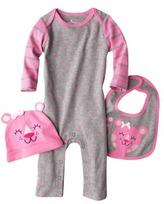 Circo Newborn Girls' 3-Piece Jumpsuit Set - Pink