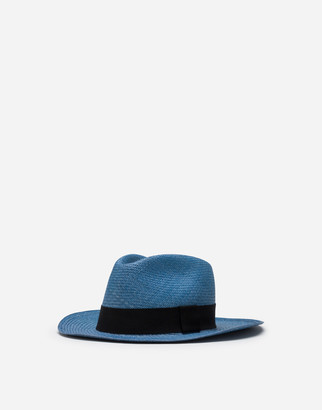 Dolce & Gabbana Panama Hat In Straw