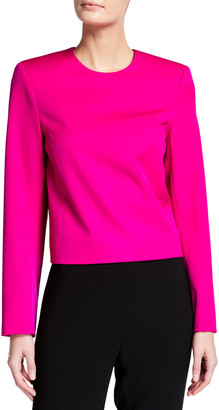 Nina Ricci Long-Sleeve Wool Open-Back Top