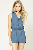 Forever 21 FOREVER 21+ Lace-Up Romper