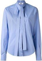 MSGM neck tie blouse
