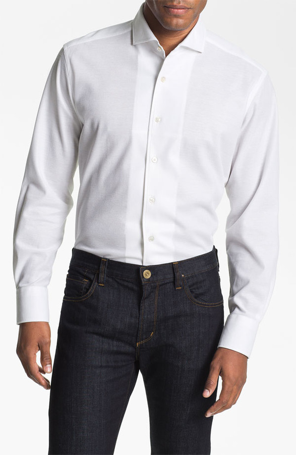 Canali Regular Fit Knit Sport Shirt