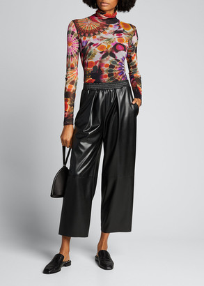 Fuzzi Eco Leather Culotte Pants