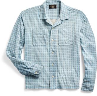 Ralph Lauren Plaid-Print Jersey Camp Shirt