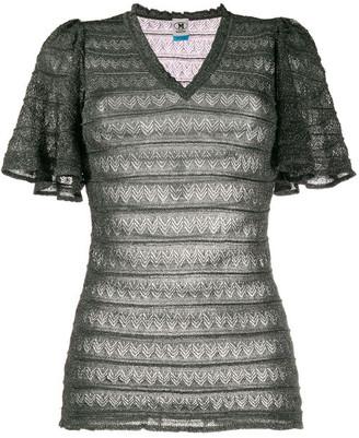 M Missoni Lurex Vneck Sweater
