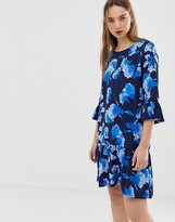 Minimum floral dress with fluted sleeves