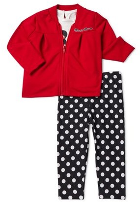 Minnie Mouse Disney Baby Girls' Jacket, T-Shirt, and Leggings, 3-Piece Set
