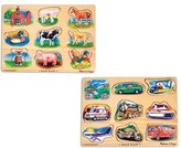 Melissa & Doug Toddler Farm & Vehicle Sound Puzzles