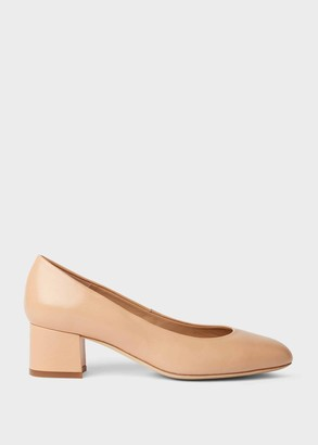 Hobbs Natalie Wide Fit Leather Block Heel Court Shoes