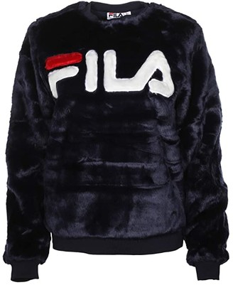 Fila Emmeline Sweatshirt (Peacoat/White/Red) Women's Clothing
